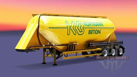 Скин Kortmann Beton на полуприцеп-цистерну для Euro Truck Simulator 2