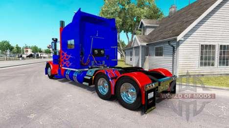 Скин Optimus Prime v2.0 на тягач Peterbilt 389 для American Truck Simulator