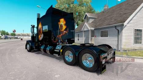 Скин Ghost Rider v2.0 на тягач Peterbilt 389 для American Truck Simulator