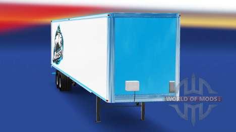 Скин Alaska Aces на полуприцеп для American Truck Simulator