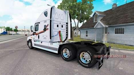 Скин METROPOLITAN на тягач Freightliner Cascadia для American Truck Simulator