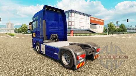 Скин Gefco на тягач MAN для Euro Truck Simulator 2