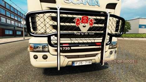 Кенгурятник V8 v2.0 на тягач Scania для Euro Truck Simulator 2