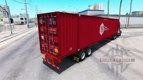 Полуприцеп контейнеровоз Hub Group Inc для American Truck Simulator
