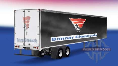 Скин Banner Chemicals v2.0 на полуприцеп для American Truck Simulator