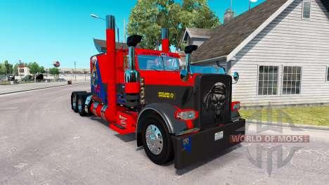 Скин Nevada USA на тягач Peterbilt 389 для American Truck Simulator