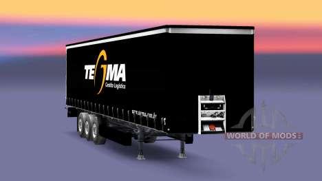 Скин Tegma Logistic на полуприцепы для Euro Truck Simulator 2