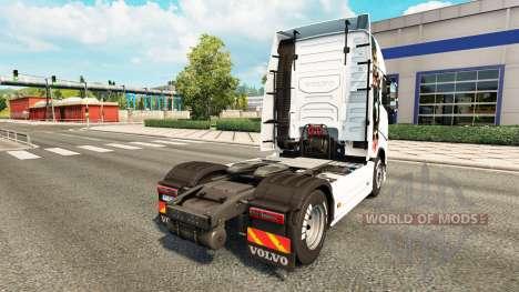 Скин Hannibal на тягач Volvo для Euro Truck Simulator 2