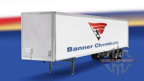 Скин Banner Chemicals на полуприцеп для American Truck Simulator