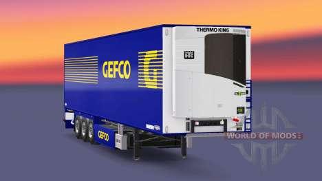 Полуприцеп-рефрижератор Chereau Gefco для Euro Truck Simulator 2