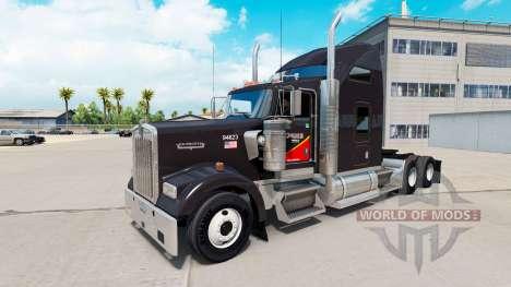 Скин Gallon Oil на тягач Kenworth W900 для American Truck Simulator