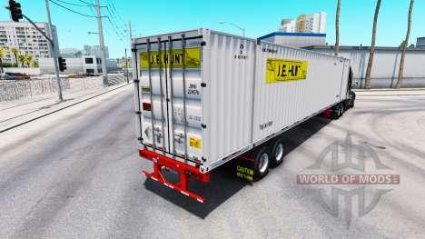 Полуприцеп контейнеровоз J.B. Hunt для American Truck Simulator