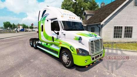 Скин HYBRID на тягач Freightliner Cascadia для American Truck Simulator