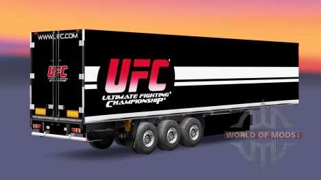 Скин UFC на полуприцепы для Euro Truck Simulator 2