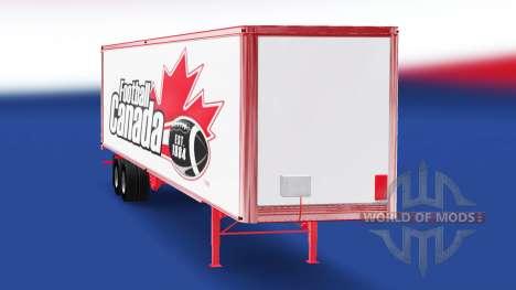 Скин Football Canada на полуприцеп для American Truck Simulator