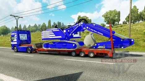 Скин T. van der Vijver на низкорамный трал для Euro Truck Simulator 2