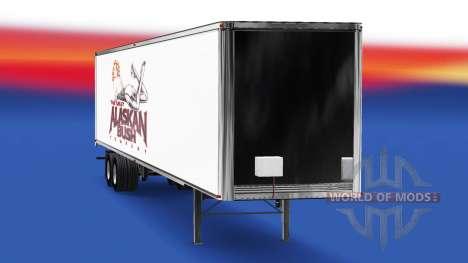Скин Alaskan Bush Company на полуприцеп для American Truck Simulator