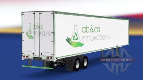 Скин ab&cd innovations на полуприцеп для American Truck Simulator