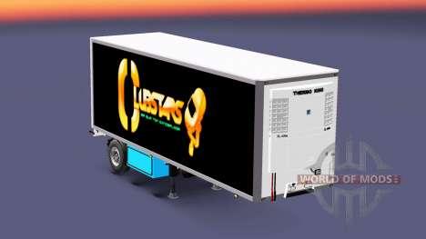 Полуприцеп-рефрижератор Krone Crown Club Stars для Euro Truck Simulator 2
