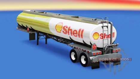 Скин Shell на топливную цистерну для American Truck Simulator