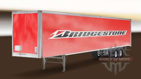Скин Bridgestone на полуприцеп для American Truck Simulator