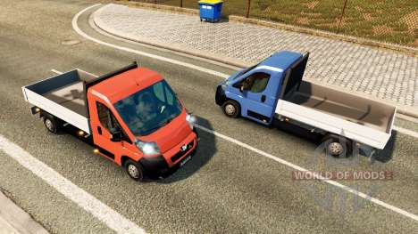 Peugeot Boxer Pickup для трафика для Euro Truck Simulator 2