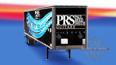 Скин PRS Guitars на полуприцеп для American Truck Simulator