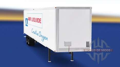 Скин Air Liquide на полуприцеп для American Truck Simulator