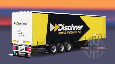Шторный полуприцеп Schmitz Cargobull Dischner для Euro Truck Simulator 2