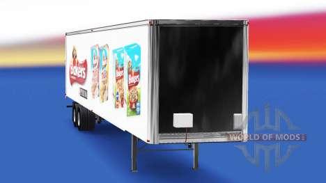 Скин Bakers на полуприцеп для American Truck Simulator