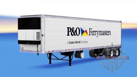 Скин P&O Ferrymasters на полуприцеп для American Truck Simulator