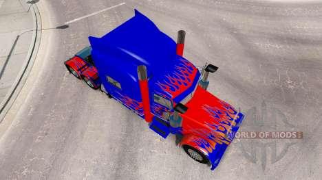Скин Optimus Prime v2.1 на тягач Peterbilt 389 для American Truck Simulator