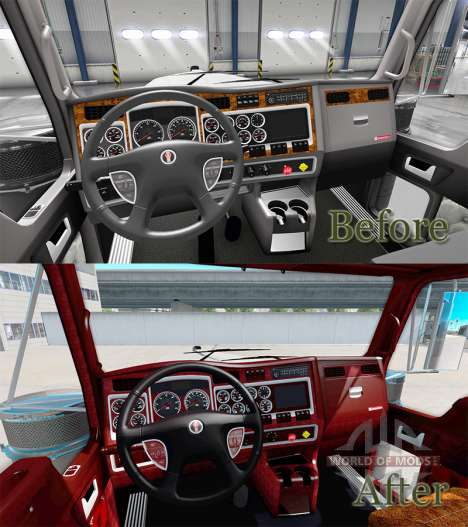 Интерьер v1.1 для Kenworth W900 для American Truck Simulator