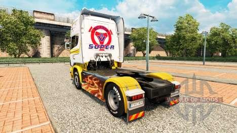 Скин White gold на тягач Scania для Euro Truck Simulator 2