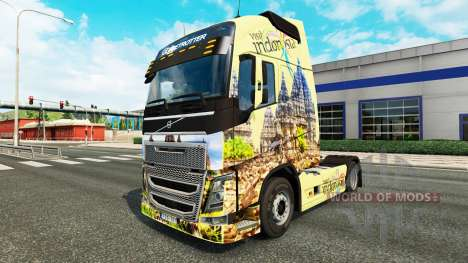 Скин Indonesia на тягач Volvo для Euro Truck Simulator 2