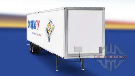 Скин Screwfix на полуприцеп для American Truck Simulator