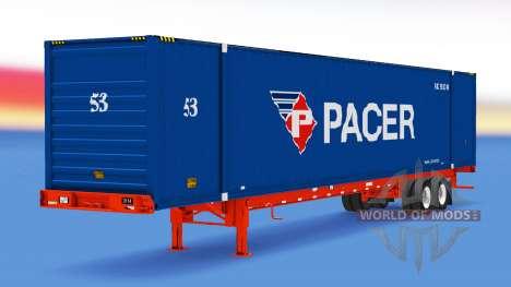 Полуприцеп контейнеровоз Pacer для American Truck Simulator