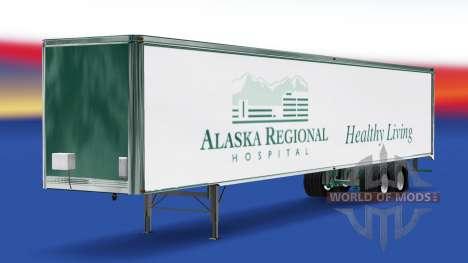 Скин Alaska Regional Hospital на полуприцеп для American Truck Simulator