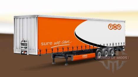 Скин TNT на шторный полуприцеп для Euro Truck Simulator 2