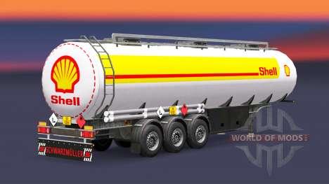 Скин Shell на топливный полуприцеп для Euro Truck Simulator 2
