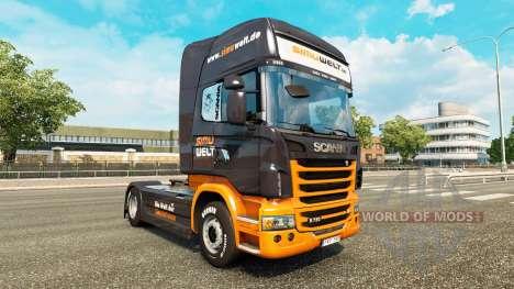 Скин Simuwelt на тягач Scania для Euro Truck Simulator 2