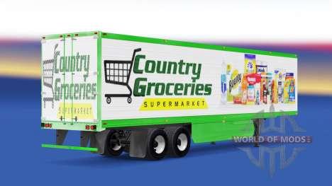 Скин Country Grocery на полуприцеп для American Truck Simulator