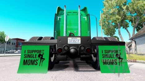 Брызговики I Support Single Moms v1.8 для American Truck Simulator