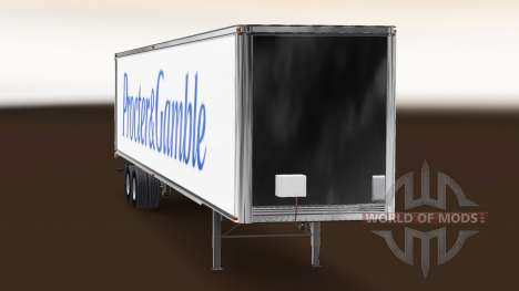 Скин Procter & Gamble на полуприцеп для American Truck Simulator