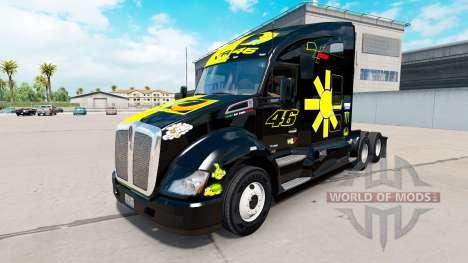 Скин Valentino Rossi на тягач Kenworth для American Truck Simulator