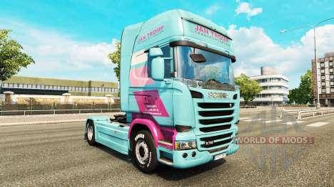 Скин Jan Tromp на тягач Scania для Euro Truck Simulator 2