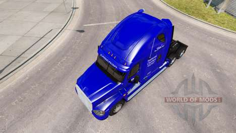 Скин National Carrier на Freightliner Cascadia для American Truck Simulator