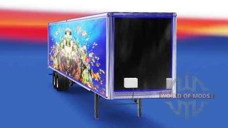 Скин Fish на полуприцеп для American Truck Simulator