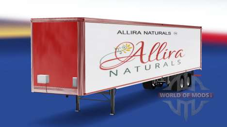 Скин Allira на полуприцеп для American Truck Simulator