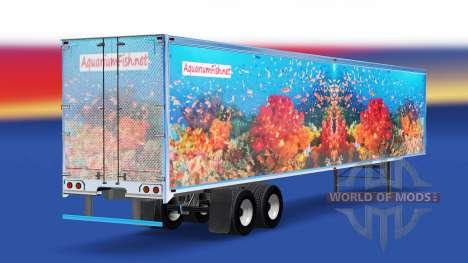 Скин Fish v3.0 на полуприцеп для American Truck Simulator